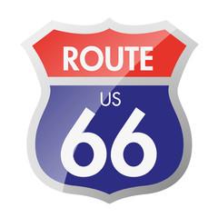 Route 66 - panneau - États-Unis - Amérique - symbole - pictogramme - aventure - voyage