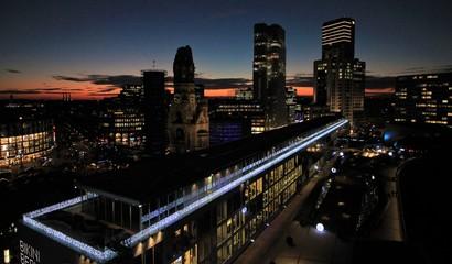 Berlin; Abendstimmung in der City-West