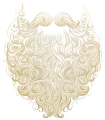White thick beard and mustache Santa Claus