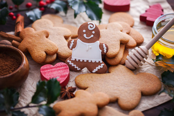Christmas baking gingerbread honey