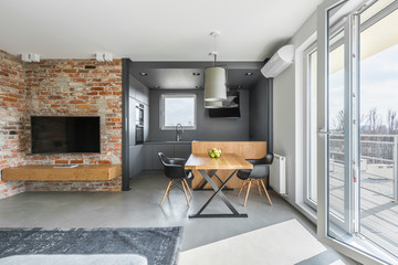 Contemporary industrial styled flat