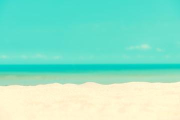 Beautiful sand beach and blue sky background