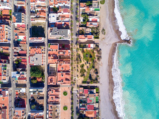 Wall Mural - Aerial view of mediterranean beach