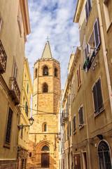 Dom Alghero Kirche Kathedrale di Santa Maria Turm