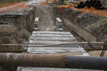 road repair concrete work