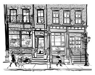 Tuinposter Art Studio Houses in Greenwich Village New York City