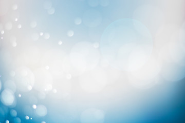 Soft blur abtract blue bokeh and Christmas background.