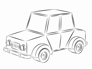 illustration of toy car, vector draw