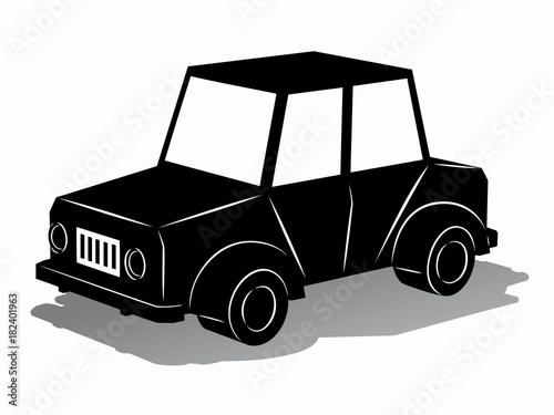illustration of toy car vector draw stock image and royalty free