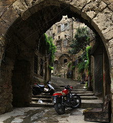 Arch, Steps, Sofa, and Motorcycles