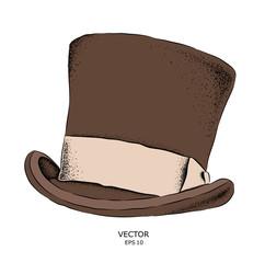 Old hat. Headgear hand-drawn sketch. Vector illustration