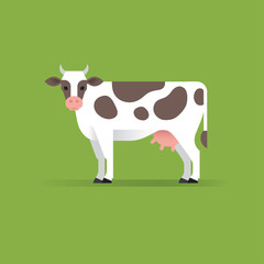 Wall Mural - Vector cow illustration.