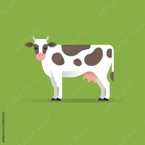 Wall mural Vector cow illustration.
