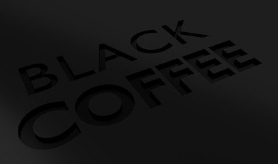 Black coffee 3D text