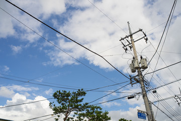 sky & electric cable