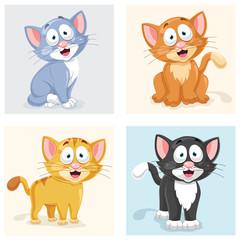 Cats Vector Illustration Set