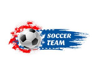 Soccer sport game team football ball vector icon