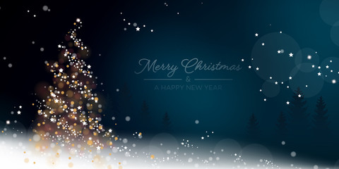 Weihnachten Lichterbaum - Blau (EN)