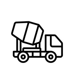 Construction - Cement Truck - (Outline)