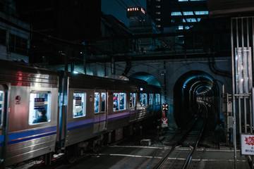 Dark train tunnel from Japan, Tokyo