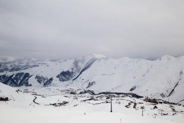 Caucasus Mountains, Georgia, ski resort Gudauri.