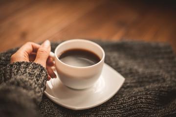 Сup of fragrant coffee