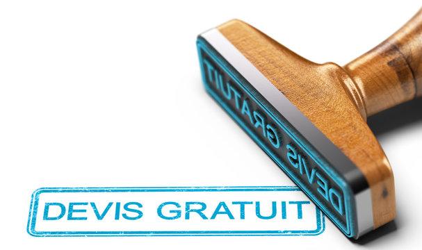 Devis Gratuit, Proposition de Prix sur Fond Blanc