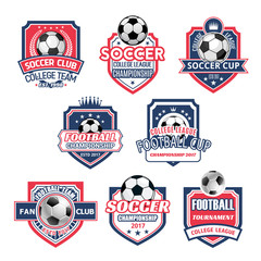 Vector icons for soccer club football team league
