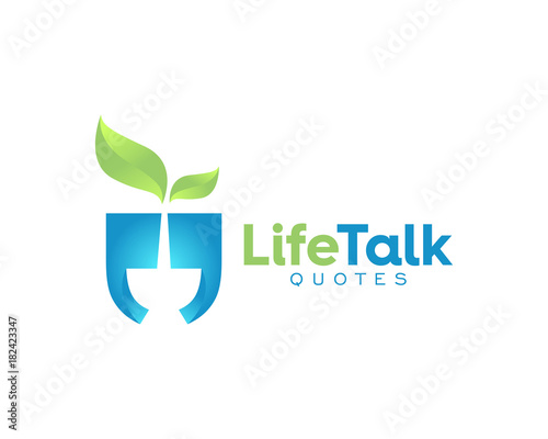 Nature Life Healthy Fresh Quotes Talk Forum Logo Stock Image And