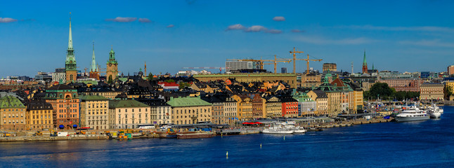 View onto Stockholm old town Gamla Stan in Sweden