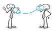 Business Leute mit Dosentelefon als Kommunikation Konzept