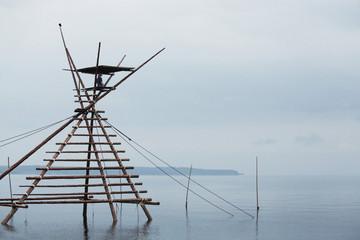Wooden structure for traditional fishing in Sea of Japan, Noto Peninsula, Ishikawa, Japan