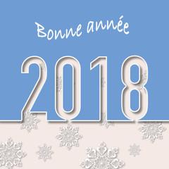 2018 - carte de vœux - vœux - entreprise - design -bonne année - carré, graphique