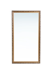 Beautiful big mirror on white background
