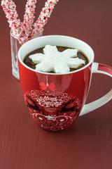 Homemade hot chocolate drink.