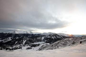 View towards the Nock mountains, Gurktaler Alps, Carinthia, Austria