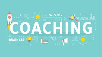 Coaching concept illustration.