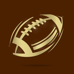 American gold football ball icon