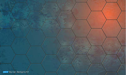 Abstract background with hexagon elements