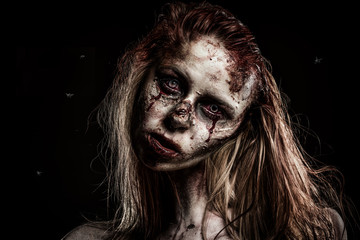 Zombie Girl and Flies