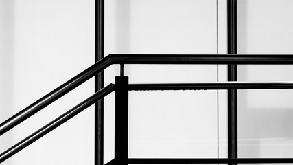 Modern stainless staircase