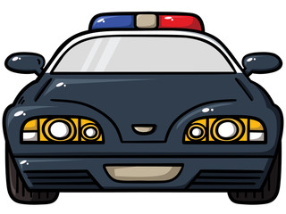Vector illustration of police car