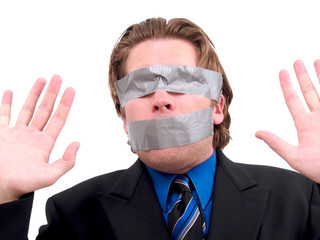 Duct Taped Businessman