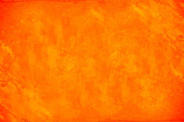 Abstract orange grunge wall for texture background
