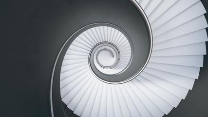 Wendeltreppe -Blick von oben nach unten- Fototapete