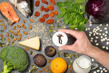 Food products useful for strengthening bones