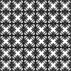 Oriental Islamic Arabic African seamless geometric pattern vector ethnic vintage retro background design art with symmetrical ornaments black and white
