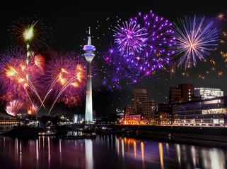 Feuerwerk in Düsseldorf