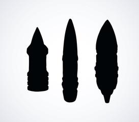 Military rocket. Vector drawing