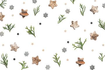 Christmas Frame On White Background